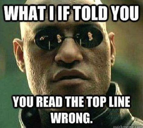 Wrong line